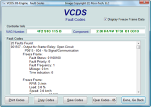 VCDS Dtc Screen