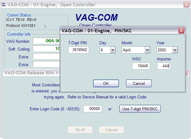 vag key login instructions