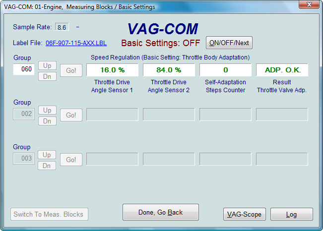 Ross Tech Vag Com Tour Basic Settings