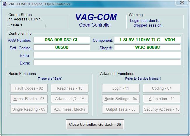 Ross-Tech: VAG-COM Tour: Login