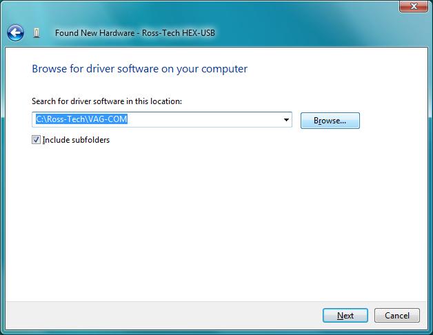 Ross-Tech: VAG-COM: USB Driver Installation for Windows Vista