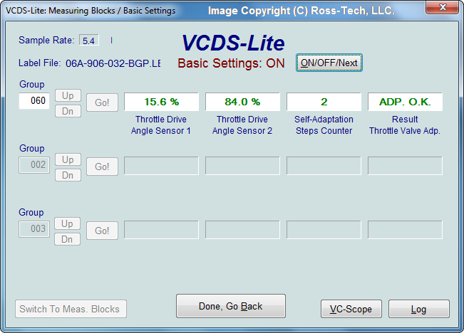 Ross-Tech: VCDS-Lite Manual: Basic Settings