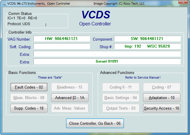 Ross-Tech: VCDS Tour: Crafter / LT3 Functions