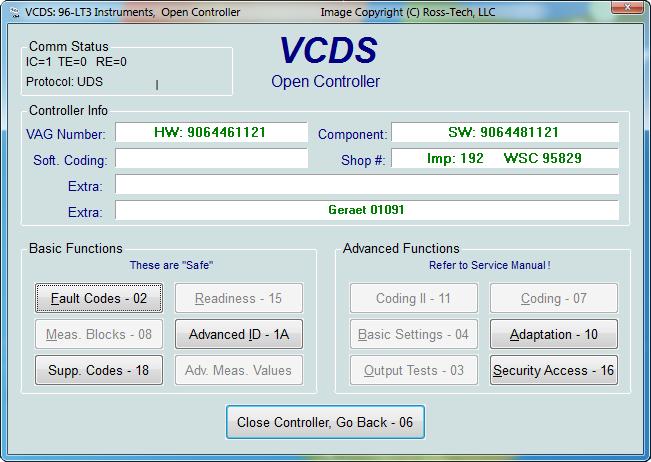 Ross Tech Vcds Tour Crafter Lt3 Functions
