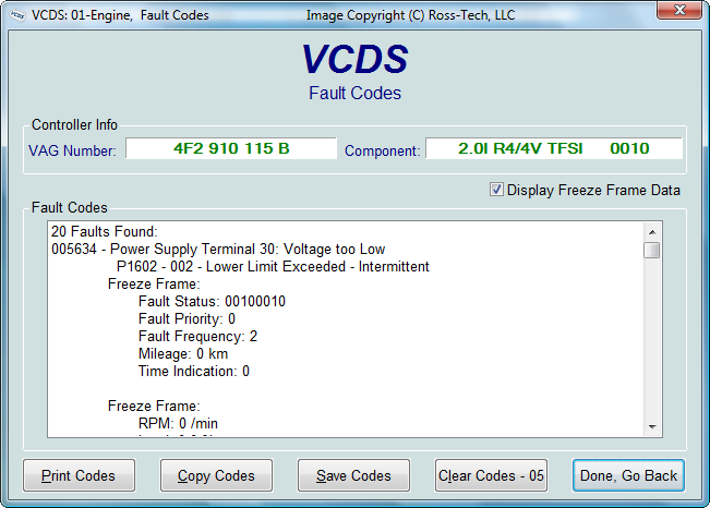 fehlercodes vs text vcds software hardware das. Black Bedroom Furniture Sets. Home Design Ideas