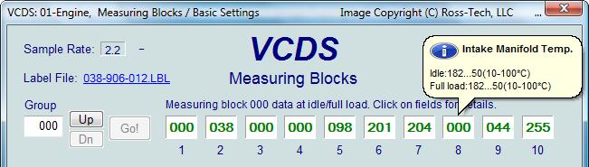 2 8 V6 VCDS channels? - Audifans net
