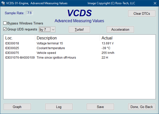 Ross-Tech: VCDS Tour: Advanced Measuring Values