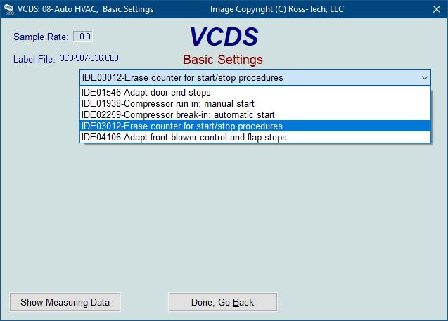 Ross-Tech: VCDS Tour: Basic Settings