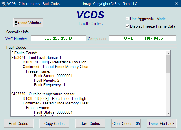 Ross-Tech: VCDS Tour: Fault Codes