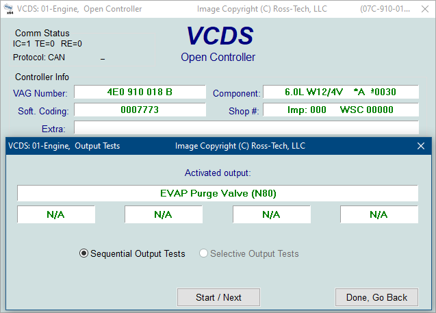 Ross-Tech: VCDS Tour: Output Tests