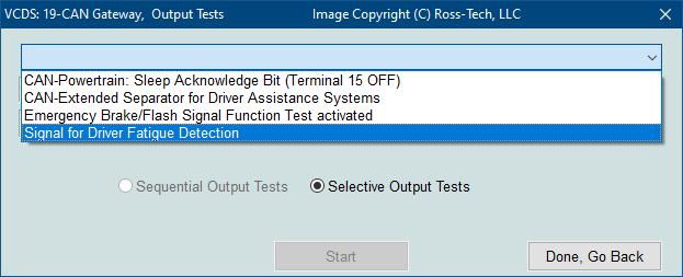 Ross-Tech: VCDS Tour: Output Tests