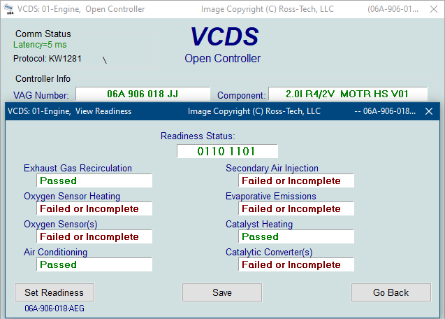 Ross-Tech: VCDS Tour: Readiness