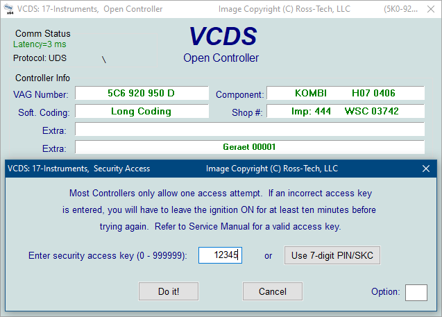 Ross-Tech: VCDS Tour: Security Access